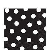 Black Polka Dot Napkins - 33cm