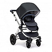 Ickle Bubba Stomp V4 Special Edition Pram with Maxi Cosi Adaptors plus 2nd Stage Isofix Car Seat - Blueberry Chrome