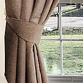 Homescapes Mink Chenille Curtains Tie Backs Pair