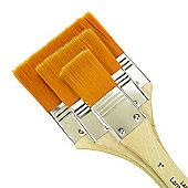 Royal Large Area Brush Set - Gold Taklon Medium 3 Pack
