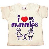 Dirty Fingers I love heart my Mummies Baby T-shirt - Cream