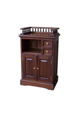 Lock stock and barrel Mahogany Telephone Stand with Gallery in Mahogany