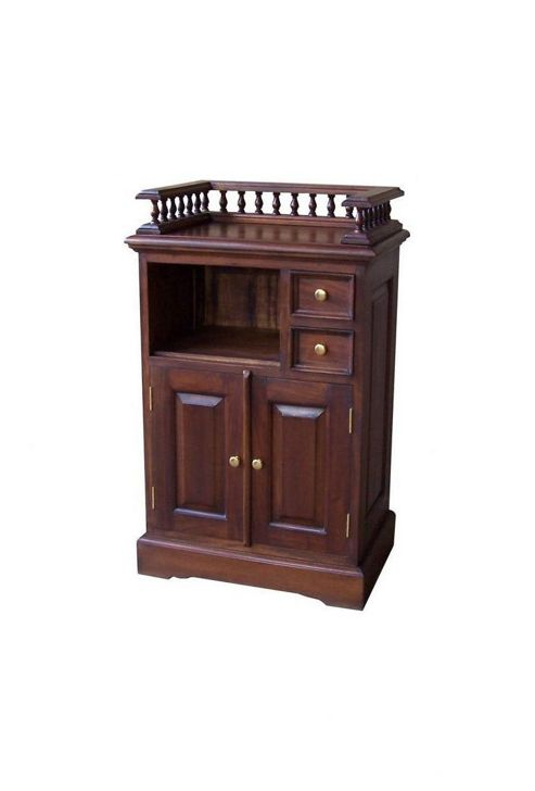 Lock stock and barrel Mahogany Telephone Stand with Gallery in Mahogany