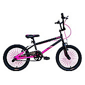 "Tiger UC X1 BMX Bike 18"" Girls Black Pink"