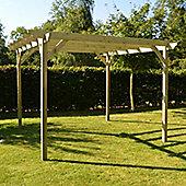 Garden Pergola 3.6m x 3.6m - Sculpted Rafter End