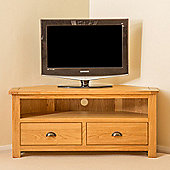 Roseland Oak Corner TV Stand - Waxed Oak