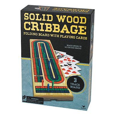Solid Wood Cribbage Game
