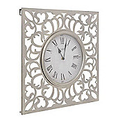 Decadent Pewter Cut Out Wall clock