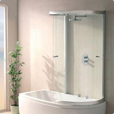 Buy Duchy SOPHIA Curved Showerbath Bath Panel with Extending Sliding ...