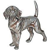 Silver Polyresin Beagle Dog Decoration