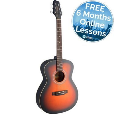 Stagg Auditorium Acoustic Guitar - Brownburst - with 6 Months Free Online Lessons