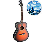 Stagg Auditorium Acoustic Guitar - Brownburst