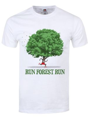 Run Forest Run Men's White T-shirt
