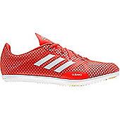 adidas adizero Ambition 4 Womens Running Spike Shoe Red/White - Red