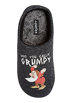 Disney Snow White Grumpy Slippers - Grey