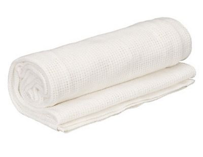 Shnuggle Moses Basket 100% Cotton Cellular Blanket (White)