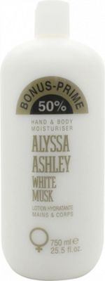 Alyssa Ashley White Musk Hand and Body Moisturiser 750ml