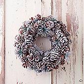 Silver Glitter Cone Christmas Wreath