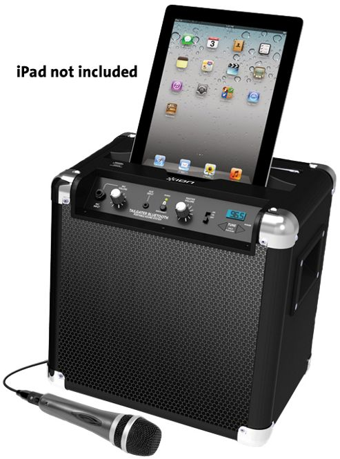 ION TAILGATER BLUETOOTH PORTABLE SPEAKER SYSTEM WITH iPOD DOCK