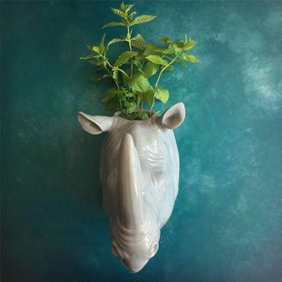 Rhino Wall Vase