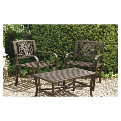 Garden Arm Chair with Cast Iron Inserts, pack of 2