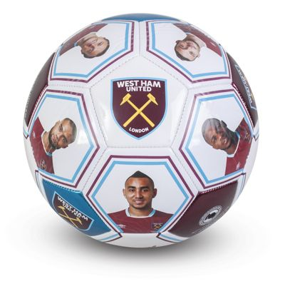 West Ham United FC Football Size 5 Photo & Signature