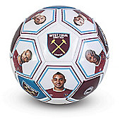 West Ham United FC Size 5 Photo & Signature Football