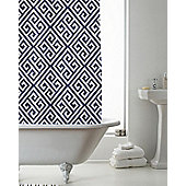 Country Club Shower Curtain Deco Indigo 180 x 180cm