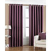 Riva Home Fiji Faux Silk Eyelet Curtains - Aubergine