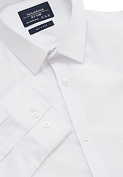 F&F 2 Pack of Easy Care Slim Fit Shirts - White