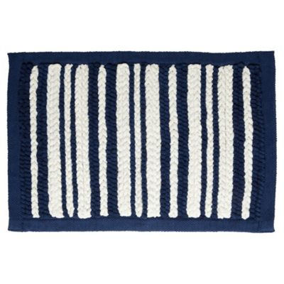 Tesco Nautical Stripe Knit Bath Mat