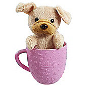 AniMagic-Teacup Pets- Brown Dog - Pink Cup