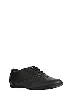 F&F Sensitive Sole Leather School Brogues - Black