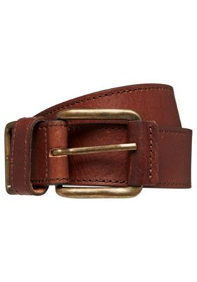 F&F Casual Leather Belt S Chocolate brown