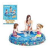 "Benross 48"" Outdoor Garden Kids 3 Ring Tropical Fish Swimming Paddling Pool"