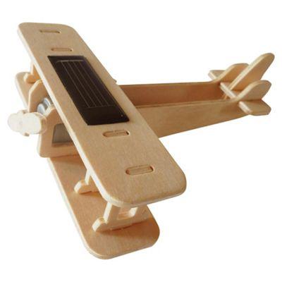 Solar Biplane Wooden Craft Kit