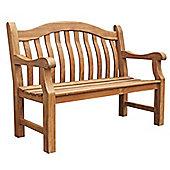 Balmoral Wooden Garden Bench, FSC Teak, 2 seater