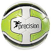 Precision Santos Midi Training Ball White/Lime Green