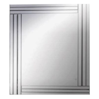 Total Mirrors Rectangle Mirror with Clear Stripes - Small