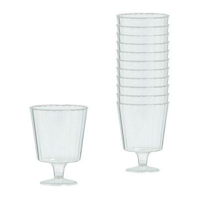 Clear Plastic Wine Glasses 142ml - 24 Pack
