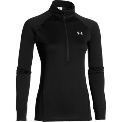 Under Armour Tech 1/4 Zip Womens Running Shirt Black - UK 16-18