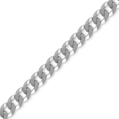 Sterling Silver 8mm Gauge Curb Chain - 22 inch