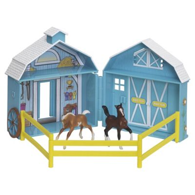 Breyer Stablemates Frolicking Foals Pocket Barn