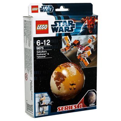 LEGO Star Wars Planets Sebulba's Podracer & Tatooine 9675