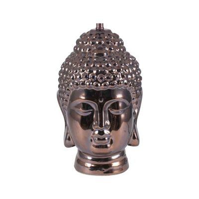 Classic Style Table Lamp Bronze Ceramic Buddah Head Rustic Unique Design