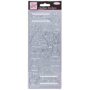 Outline Stickers Fashion Silver