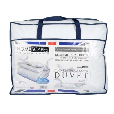 Homescapes Duck Feather and Down Duvet 10.5 Tog Single Autumn Luxury Quilt