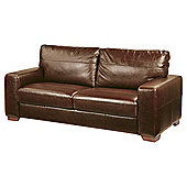 Abbott Large 3 Seater Leather Sofa, Tan