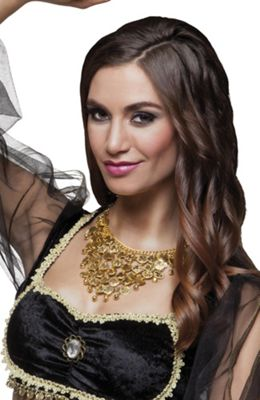 Adults Belly Dancer Gold Necklace Fancy Dress Accessory