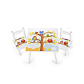 Leomark Owls Wooden Table and Chairs